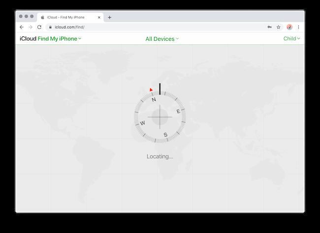 Find My iPhone Screen
