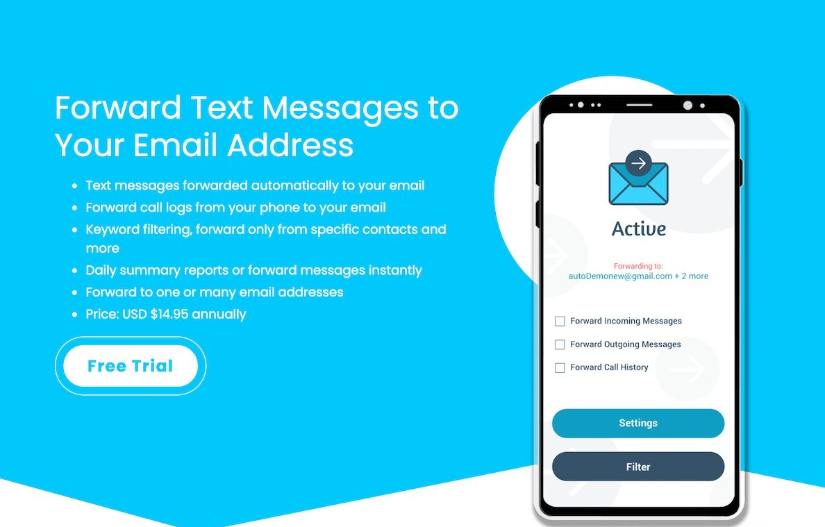 Banner for Auto Forward Text Android App