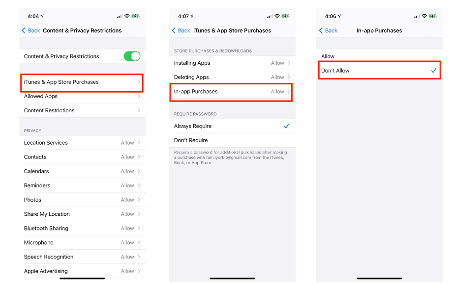 Steps to Block In-App Purchase in iOS